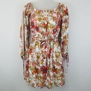 Lulu's floral tie waist dress NWT